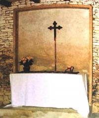 Chapelle et autel construits par les ingénieurs de la 3e Div C