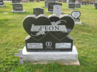 Tombstone Bernard D'Eon St. Peter's Church in West Pubnico, NS