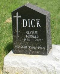 Spr Dick's Headstone Woodland Cemetery Waterloo County, ON