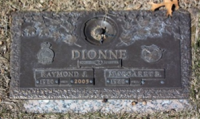 Grave Marker for Cpl R.J. Dionne at Our Lady of Mercy Catholic Cemetery in Sarnia