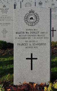 Maj Martin William Donley (Ret'd), OMM, CD Beechwood Cemetery, Ottawa, ON