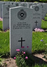 Gravestone WO Pierre Dufour, CD (Ret'd)