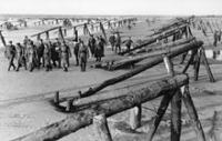 Erwin Rommel and staff inspecting beach defences - 1944