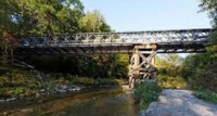 The Finch Street Bridge was erected by 2nd Field Engineer Regiment as emergency crossing of the Humber River in Toronto after Hurricane Hazel in 1954. It is still in use some 70 years later.