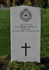 Sgt J. J. J. Michel Forget, CD Headstone in Beechwood Cemetery, Ottawa