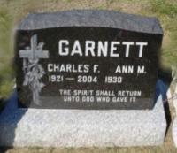 CWO Chuck Garnett Gravestone