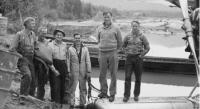 Andrews' aerial photography crew during the preliminary Alaska Highway survey in 1939.