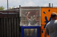 The Sergeant Major's dunk tank