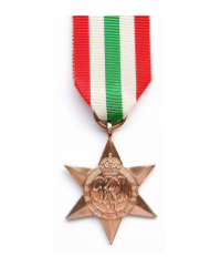The Italy Star was awarded to those who had served in operations during the Italian Campaign.