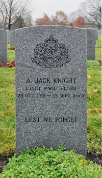 "L/Sgt Jack ""A.J."" Knight National Military Cemetery at Beechwood, Ottawa"
