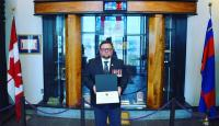 Cpl Kyle Scott (Ret'd) with CME Commendation