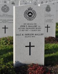 CWO John E. Mallory, CD (Ret'd) Headstone, Beechwood Cemetery, Ottawa, ON
