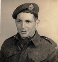 Capt Sydney Mansbridge, CD (Ret'd) in England 1942