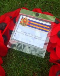 CMEA sponsored wreath laid in tribute to Lt James Martin, 23rd Fd Coy, Holten Cemetery Nov 17