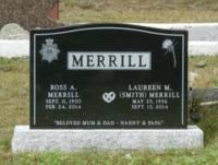 MWO Ross Merrill's Headstone at Moores Mills Cemetery, Moores Mills, NB