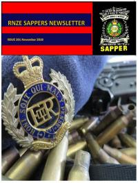 Cover New Zealand Sappers Association Newsletter November 2016