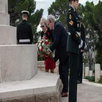 Wreath Laying during Commemorative Ceremony of the Italian Campaign at Agira Canadian War Memorial Sicily, 28 Nov 2019