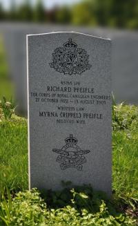 Spr Richard Pfeifle (Ret'd) Headsone at Beechwood National Military Cemetery, Ottawa