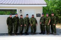 Members of 4 Engineer Support Regiment upon handing over the finished building to the Oromocto Food Bank