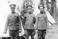 6 Fd Coy members at Engineer Training Centre North Vancouver 1916 - Frank Montador, Hugh Kernighan and George Walker