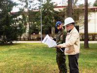 Adj Trudel of Real-Property Operations Unit Quebec - conducting a QC/QA inspection Latvia April 2018