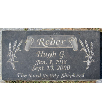 Hugh G Reber's Headstone in Pleasant Heights Cemetery Eaglesham, Grande Prairie, AB