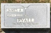 James Augustine Lyall's grave marker in St Mary's Cemetery in Chilliwack