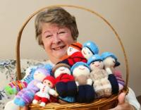 Shirley O'Connell is appealing to the knitting community to help make crocheted Izzy Dolls (www.izzydoll.ca)
