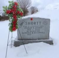 Spr Stanley B. Shortt (Ret'd) Headstone in the West Nottawsaga Presbyterian Church Simcoe County, Ontario