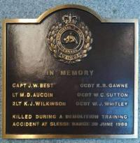 Commemorative Plaque at CFSME Gagetown