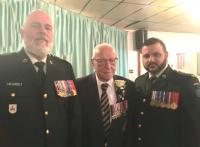 LCol Pierre St-Laurent, CO 34 RGC; Spr Garnet Bourgaize: MWO Mike Golden, RSM 34 RGC