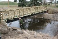 Photo of the First Pedestrian Walkway Bridge Completed Back in 2007 in the Vegreville Elk / Kinsmen Park That was Later Dedicated to LCol. Dan O'Keefe, Commanding Officer of 41 CER