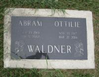 Headstone of Sapper Abram Waldner (Ret'd)