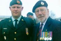 William (Bill) Ludlow with his grandson, Sergeant Scott Thompson, also of the Royal Canadian Engineers in 2007