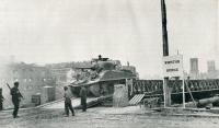 'Winston' Bridge built by the 31st Field Company, 18 July 1944