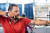 Adjudant Damien Pittman, capitaine d'équipe, Équipe Canada participant aux Warrior Games de 2019