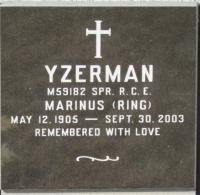 "Spr Marinus ""Ring"" Yzerman, (Ret'd) Headstone, Olds Cemetery"
