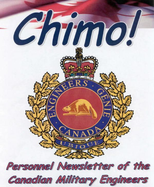 Chimo Personnel Newsletter Of The Canadian Military Engineers 30