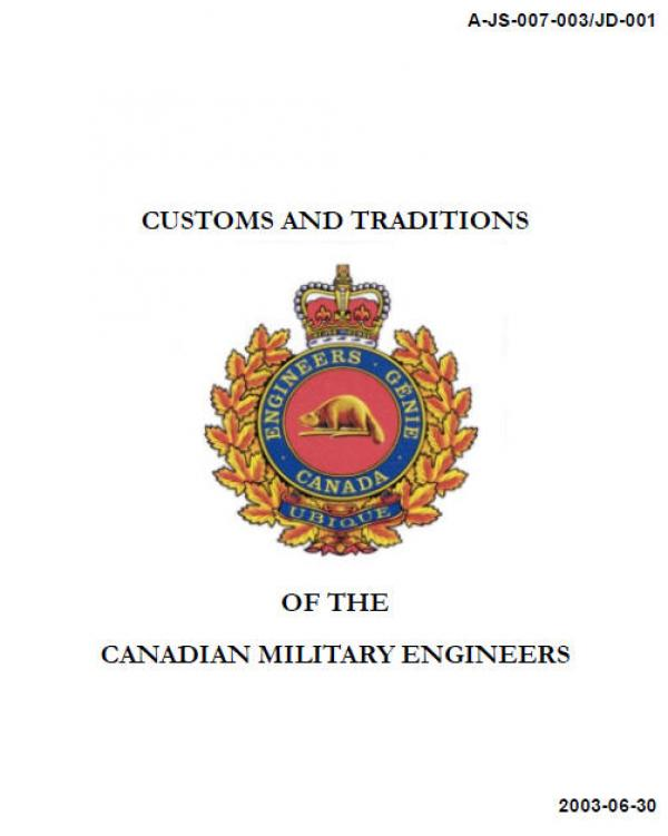 Customs And Traditions Of The Canadian Military Engineers Canadian
