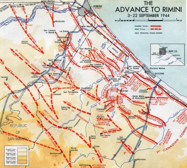 Advance to Rimini 3 - 22 Sep 44