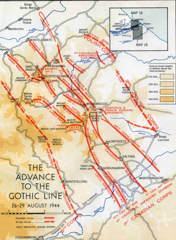 Advance to the Gothic Line 26 - 29 August 1944