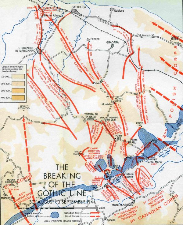 Breaking the Gothic Line 30 Aug - 3 Sep 44
